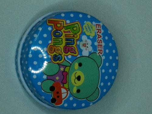 chaveiro  latinha redonda 12 unidades  011 azul/urso