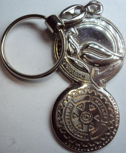 chaveiro metal - rotary internacional - p22