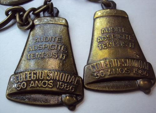 chaveiro metal - sinodal - 50 anos - 1986 - p22