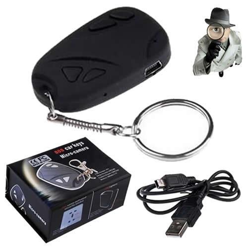 chaveiro mini câmera espiã filma áudio pega esposa namorada
