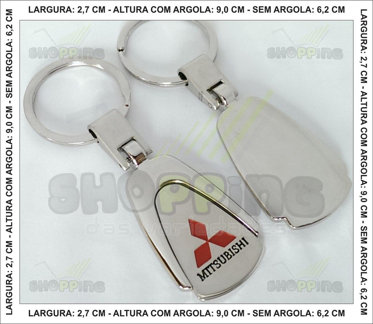 Chaveiro Mitsubishi, Lancer, L200, Asx, Pajero, Eclipse ...