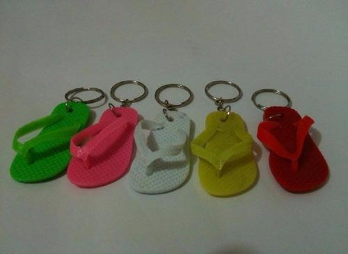 chaveiro modelo chinelo havaianas colorido pacote c/ 12 unid