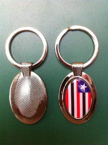 chaveiro oval da bandeira do estado do maranhão
