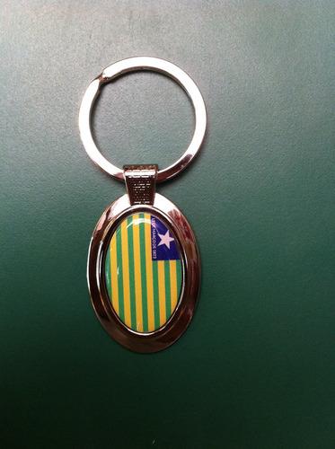 chaveiro oval da bandeira do estado do piauí