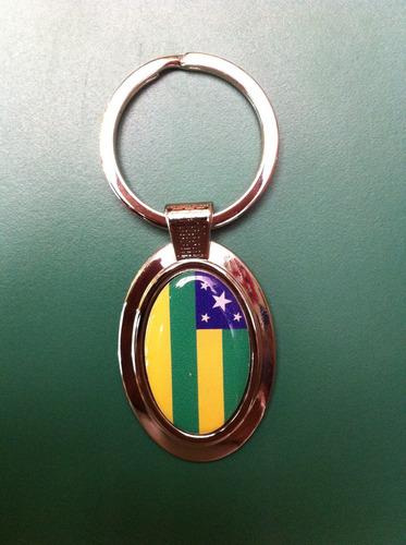 chaveiro oval da bandeira do estado do sergipe