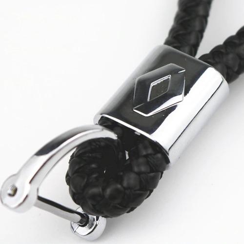 chaveiro renault fluence couro trançado metal acessórios