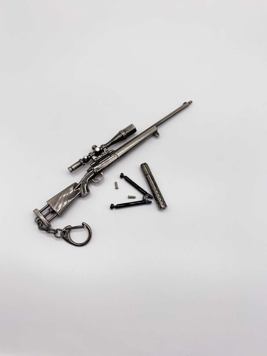 Chaveiro Rifle M24 Arma De Brinquedo Metal Pubg 17cm