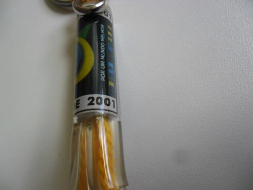 chaveiro rock in rio 2001 - produto raro para colecionadores