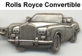 chaveiro rolls royce converti em metal relevo solido - carro