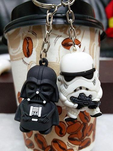 chaveiro star wars - stormtroopers + darth vader - kit c/2