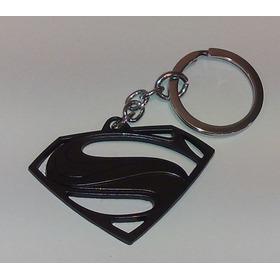 Chaveiro Superman Logo Vazado - Preto - Metal - Dc