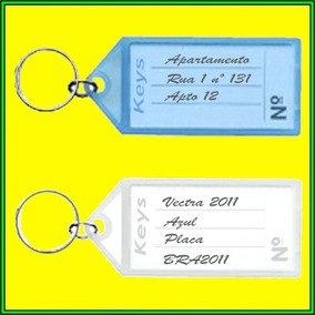 93cee23cde3c8 Chaveiro Identificador De Chaves Etiqueta no Mercado Livre Brasil