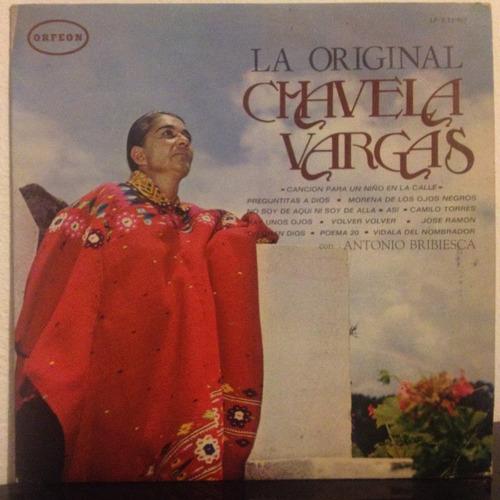 chavela vargas, la original disco vinyl orfeon
