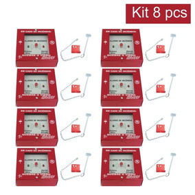 1e11820330dee 8 X Acionador Quebra Vidro P  Alarme De Incêndio Completo