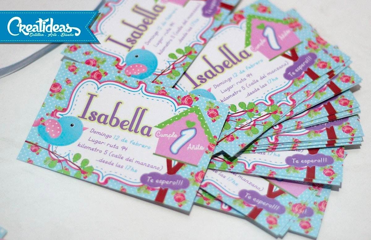 Chavo Animado Tarjetas Invitaciones Infantil Personalizadas