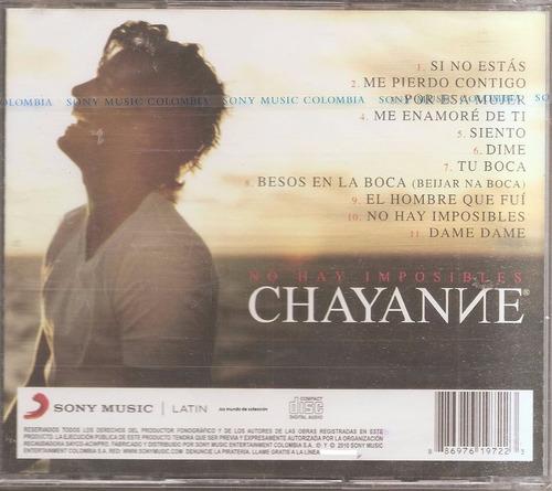 chayanne - cd original nuevo - un tesoro músical