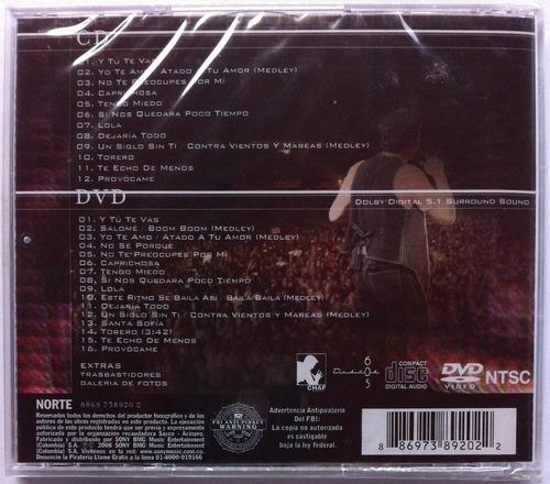 chayanne. vivo. (cd+dvd) original, nuevo