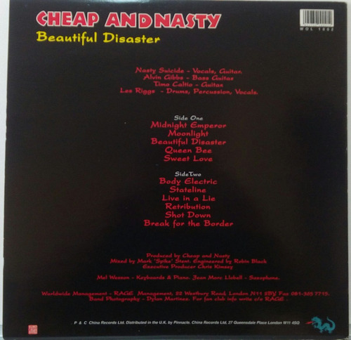 cheap and nasty vinyl beautiful disaster hanoi rocks raro
