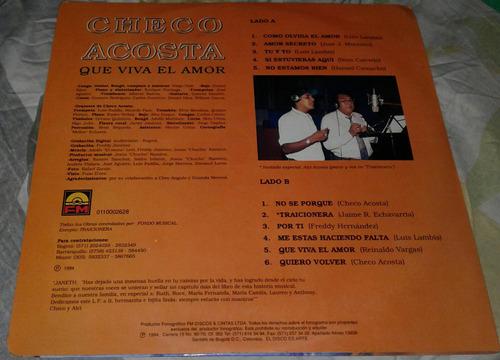 checo acosta que viva el amor/ tropical salsa/ lp 1994