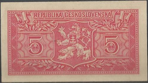 checoslovaquia 5 korun 25 ene 1949 p68a