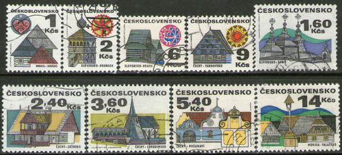 checoslovaquia serie completa x9 sellos usados iglesias 1971