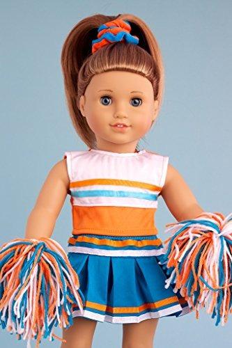 cheerleader 6 piezas cheerleader traje blusa falda diadema p