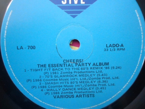 cheers the essential party album / 69 smash hits lp acetato