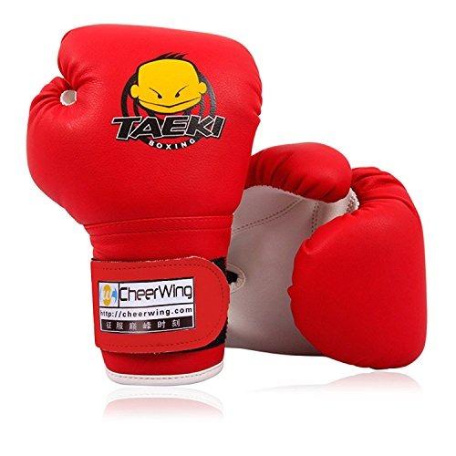 cheerwing 4oz pu niños guantes de boxeo niños de dibujos an