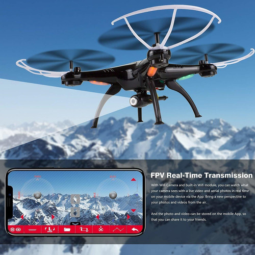cheerwing syma x5sw-v3 wifi fpv drone quadcopter 2.4ghz rc a