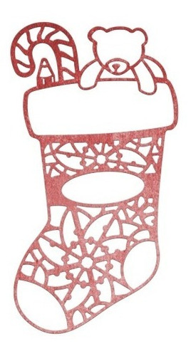 cheery lynn designs - lace christmas stocking die
