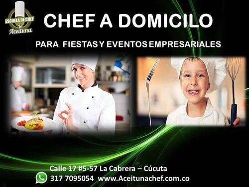 chef a domicilio para fiestas y eventos empresariales