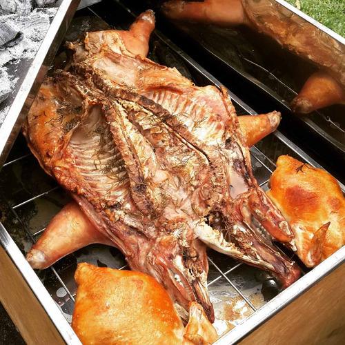 chef cilindro al palo grill caja china parrilla cateringperu