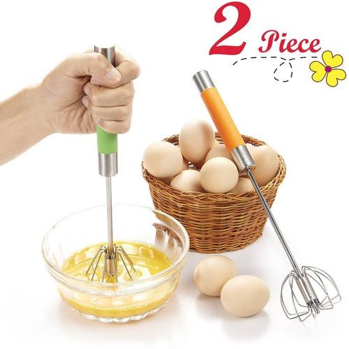 chefaith 2-pcs 12 batidor de mano de acero in + envio gratis