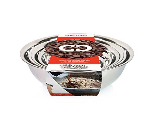 chefland conjunto de 6 peso estándar tazones para mezclar,