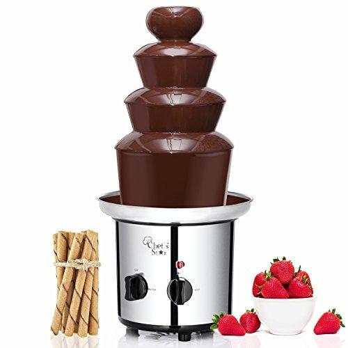 chefs star electric 3tier acero inoxidable fuente de chocola