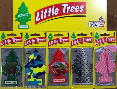cheirinho p/ carro little trees - 20 unidades - frete grátis