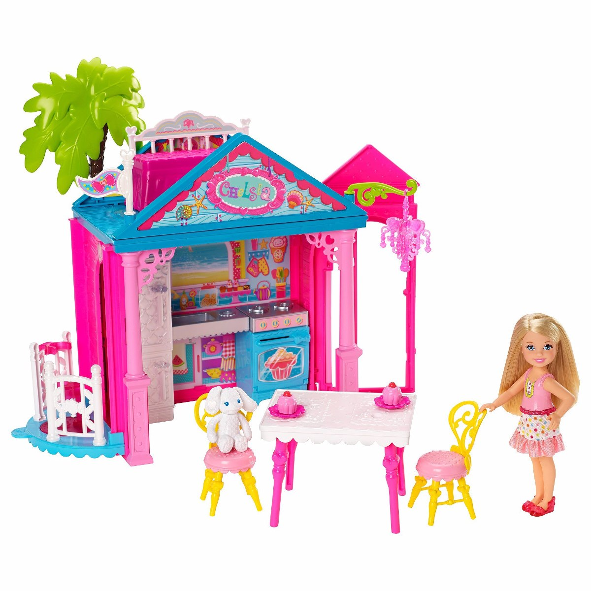chelsea hermana barbie casa casita tobogn set mattel