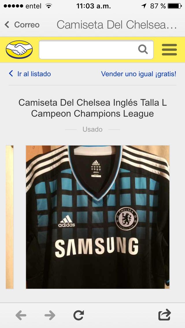 8141602444 Imágenes de Camiseta Chelsea Campeon Champions League