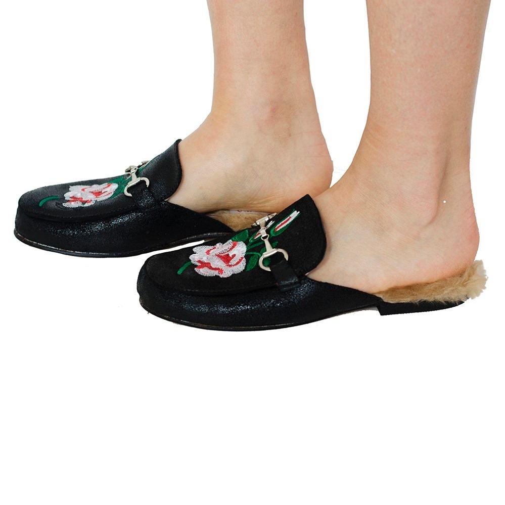 399 Chelsea Mujer Market Suecos Zapatos 1 Slippers 00 2017 Cuero H8OOwTq