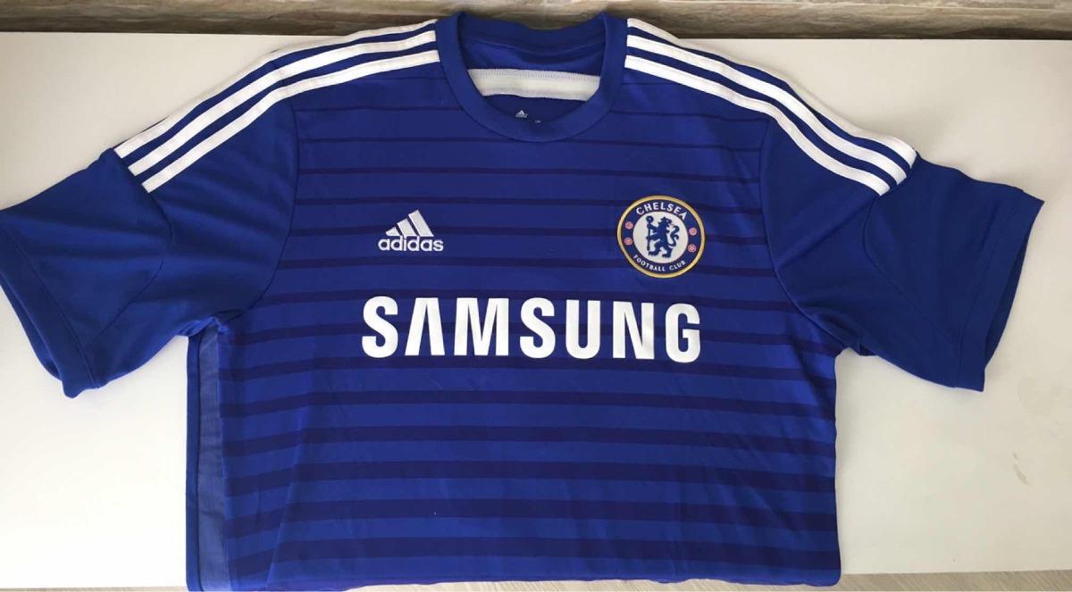 fa3528dcd8 Camisa Chelsea Azul - Autografada Por ( Oscar ) Linda !!! - R  90