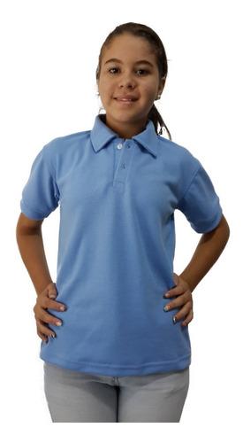 chemis escolar azul, beige y blanca hasta la talla 16 piquet