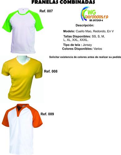 chemis,camisa tipo columbia,franelas,servicios de bordados