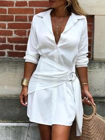 9ec7e4593 Camisa Chemise Branca - Calçados, Roupas e Bolsas no Mercado Livre Brasil
