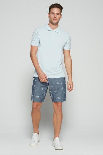 chemise gap 100% original polo shirt azul franela pique
