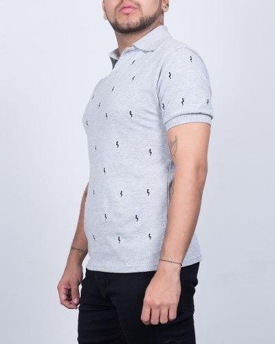 chemise synergy  rayitos gris h107