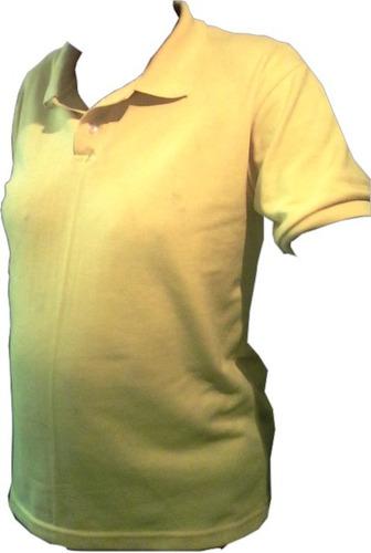 chemises en pique algodón 20, amarillas, cuello y  puño p.f