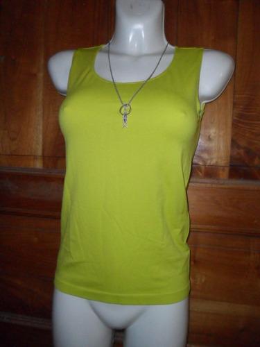 chemisette blusa top seamless s/mangas verde limon med-gde