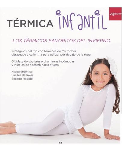 chemisette pantalon y blusa microfibra termica bco.8-10años