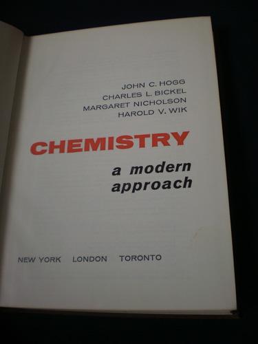 chemistry a modern approach - john c. hogg