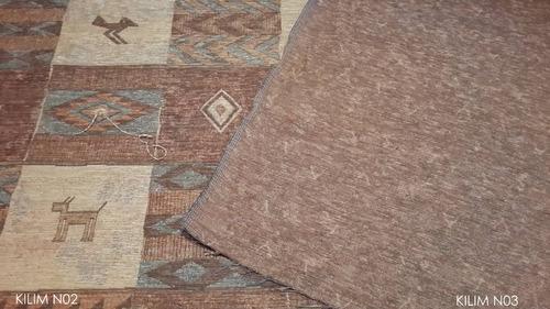 chenille para sofas importado ancho 140 cms diseño kilim